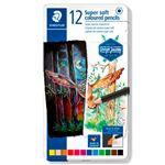 12 lápices Super Soft Staedtler colores surtidos