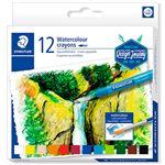 12 crayones redondos acuarelables Staedtler colores surtidos