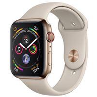 Apple Watch S4 44mm LTE Caja de acero inoxidable en oro y correa deportiva en color Piedra