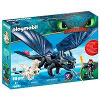 Set de juego Playmobil Hipo y Desdentao con bebé dragón