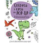 Dinosaurios-colorea y crea tu pop u