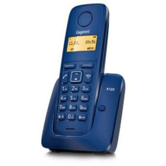 Gigaset Teléfono DECT Inalámbrico A120 Azul
