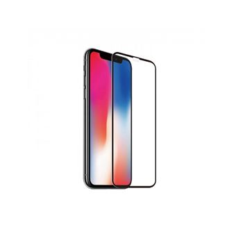 Protector de pantalla Muvit Cristal templado Marco Negro para iPhone 11/Xr