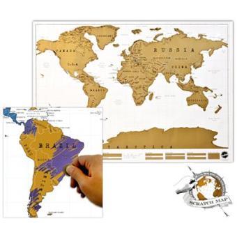 Mapa Mural Del Mundo Scratch 82x58 Varios Autores 5 En Libros
