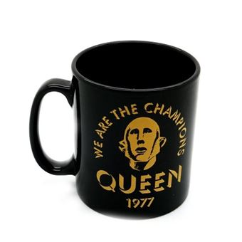 Taza oficial Queen We Are The Champions negra