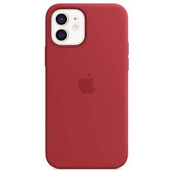 Funda de silicona Apple Rojo para iPhone 12