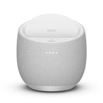 Altavoz inteligente Belkin + cargador inalámbrico SoundForm Elite Asistente de Google Blanco