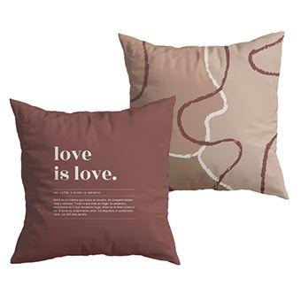 UO Funda de cojín Love is Love, Definición Burdeos