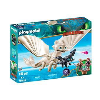 Set de juego Playmobil Furia Diurna y bebé dragón con niños