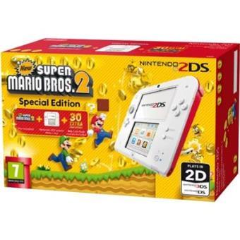Consola Nintendo 2DS Blanco/Rojo + New Super Mario Bros 2