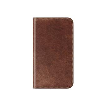 Funda Nomad Folio Piel marrón para  iPhone X