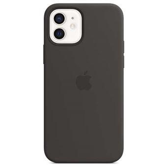 Funda de silicona Apple Negro para iPhone 12