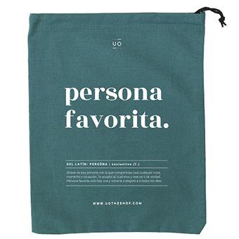 UO Bolsa de tela para regalo Persona favorita, definición