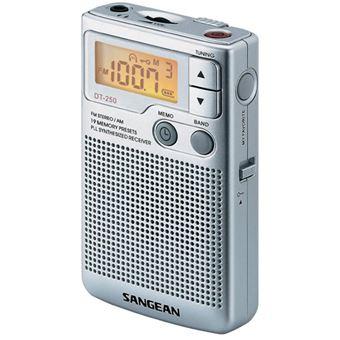 Radio Portátil Sangean DT-250 AM/FM Plata