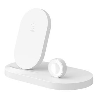 Base de carga inalámbrica Belkin Boost Up para iPhone/Apple Watch Blanco