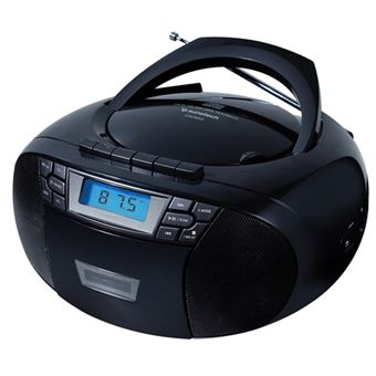 Radio CD Portátil Sunstech CXUM53 Negro