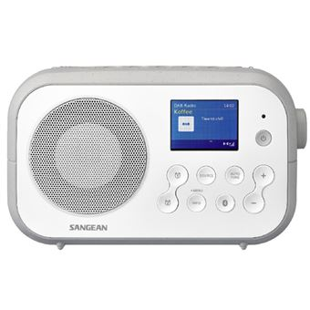 Radio Bluetooth Sangean DPR-42BT DAB+ Blanco/Gris