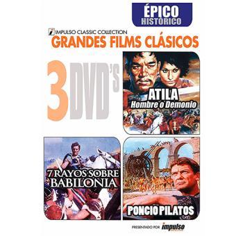 Pack Épico Histórico: Atila + Poncio Pilatos + 7 Rayos sobre Babilonia - DVD