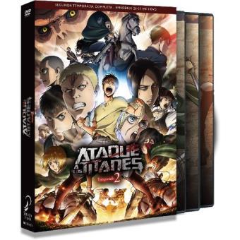 Ataque a los Titanes - Temporada 2  Ep. 1-12 - DVD