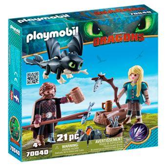 Playmobil Hipo y Astrid con bebé dragón
