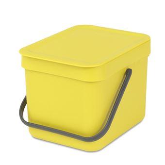 Cubo de basura Brabantia Sort & Go 6 L Amarillo