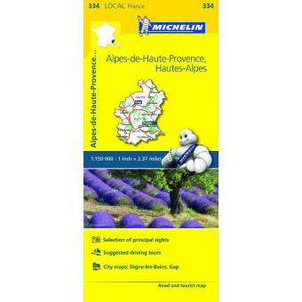 Mapa Local Alpes-de-Haute-Provence, Hautes-Alpes