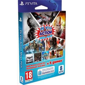 Tarjeta Memoria PS Vita 8GB Action Mega Pack