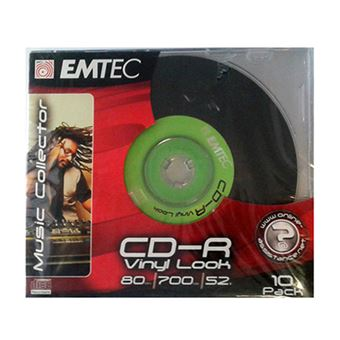 Pack Emteck 10 CD-R Vinyllook 700 MB