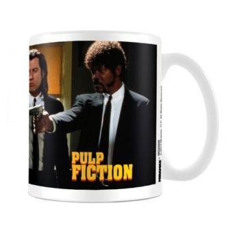 Taza Pulp Fiction - Vincent Vega y Jules Winnfield con pistolas
