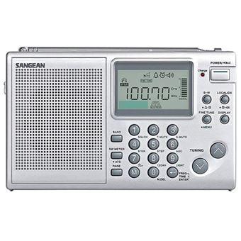 Radio Portátil Sangean ATS-405 FM/MW/SW Plata
