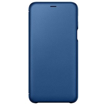 Funda Samsung Wallet Azul para Galaxy A6 Plus