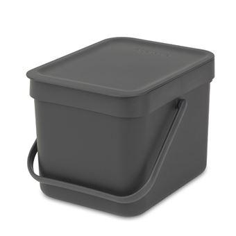 Cubo de basura Brabantia Sort & Go 6 L Negro