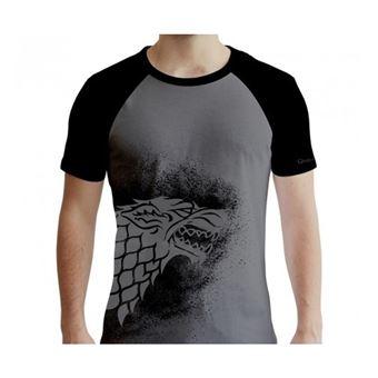 Camiseta Juego de Tronos Casa Stark Gris - Talla S