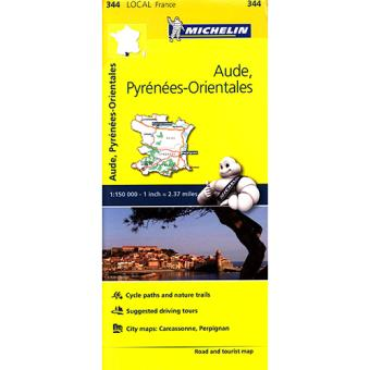 Mapa Local Michelin: Aude, Pyrénées-Orientales