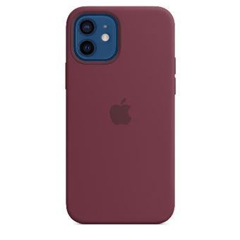 Funda de silicona Apple con MagSafe Ciruela para iPhone 12/12 Pro
