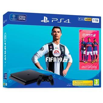 Consola PS4 Slim 1TB + FIFA 19