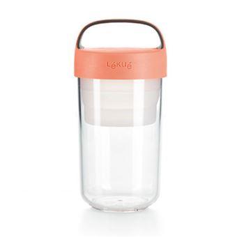 Tupper Lékué Jar To Go 600 ml Coral