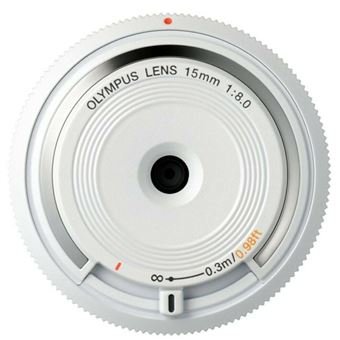 Tapa para objetivo Olympus M.Zuiko Digital 15mm F8 Blanco