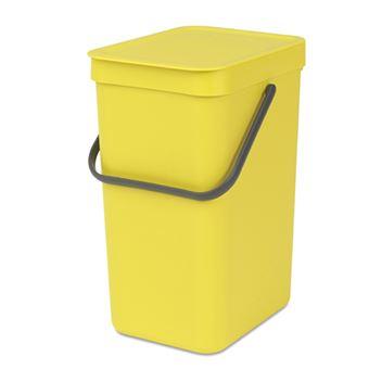 Cubo de basura Brabantia Sort & Go 12 L Amarillo