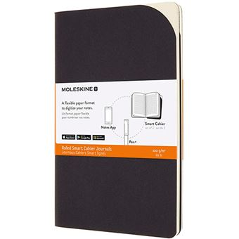 Cuaderno grande Moleskine Smart Cahier Journals rayas negro