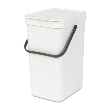 Cubo de basura Brabantia Sort & Go 12 L Blanco