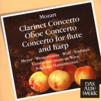 Clarinet Concerto/Oboe Concerto/Concert for Flute and Harp