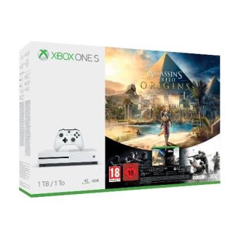Consola Xbox One S 1TB Assassin's Creed Origins + Tom Clancy's Rainbow Six Siege