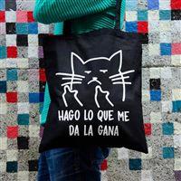 Tote Bag Miss Miserable gato macarra Hago lo que me da la gana