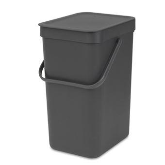 Cubo de basura Brabantia Sort & Go 12 L Negro
