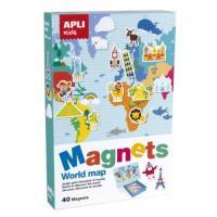 Magnetics Mapa Mundi - 40 fichas magneticas