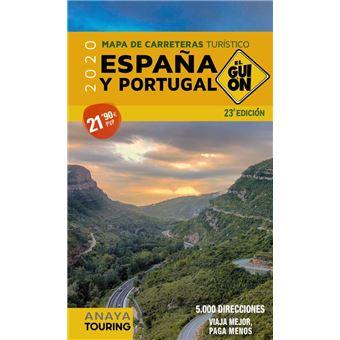 Mapa de carreteras turístico de España y Portugal 2020 Escala 1:340. 000