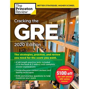 Cracking the GRE With 4 Practice Tests - 2020 Edition