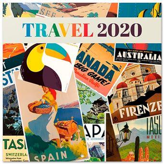 Calendario de pared 2020 Erik 30x30 multilingüe Travel