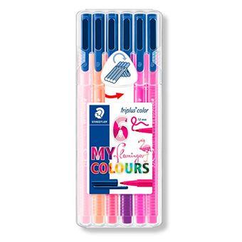 6 rotuladores Staedtler Triplus Color Flamingo colores surtidos